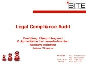 Legal Compliance Audit