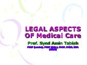 Legal aspects of med prac