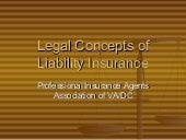 Legal Concepts Of Liability Insuran...