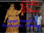 Legal & ethical issue in psychiatry...