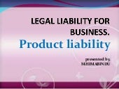 Legal liability for business