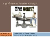 Legislation on Minimum Wage