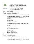 Legislative Calendar Weekending 051509