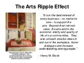 The Arts Ripple Effect