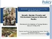 Growth, Gender, Poverty and Environ...