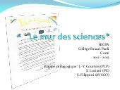 Le mur de sciences