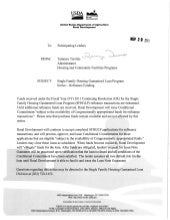 USDA Lenders - Refinance Funding Notice - 11-29-2010