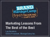 Brand ManageCamp - The First 10 Years
