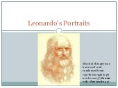 Leonardo's portraits blog