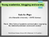 Young academics, blogging and socie...