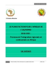Le plan d'action AU-NEPAD 2010-2015