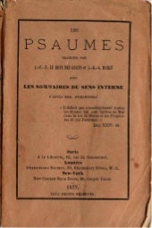 Les psaumes-traduction litterale en...