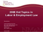 2008 Hot Topics in Labor & Employme...