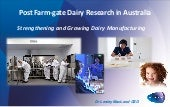 Post-farmgate Dairy Research in Aus...