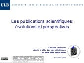 Les Publications Scientifiques évol...