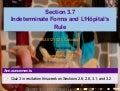 Lesson 17: Indeterminate Forms and L'Hopital's Rule (Section 021 slides)
