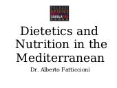 Lesson 1 general mediterranean diet