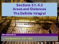 Lesson 24: Areas, Distances, the Integral (Section 021 slides)