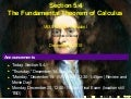 Lesson 26: The Fundamental Theorem of Calculus (Section 021 slides)