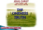 Lesson No  10   The Oneness Truth