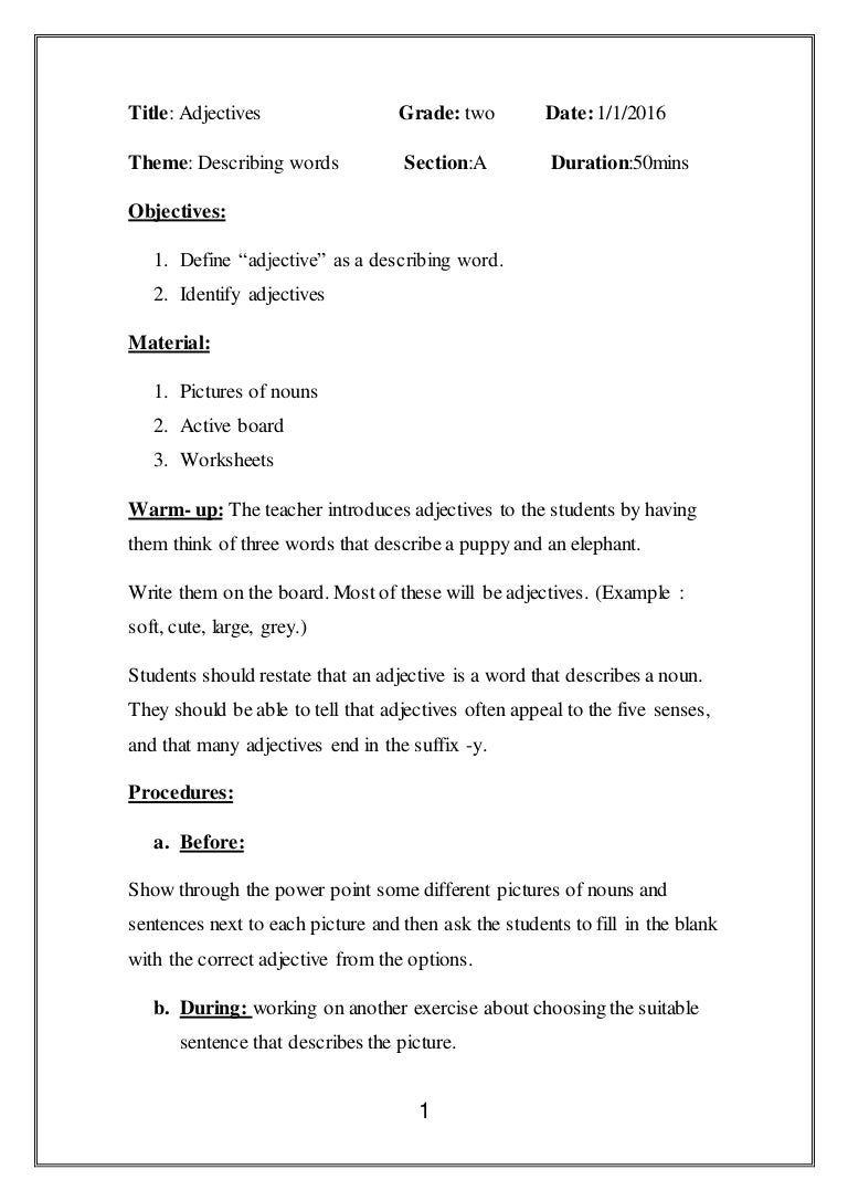 Worksheets Adjective Worksheets 4th Grade worksheet adjectives for grade 4 wosenly free mikyu lesson plan on 4th