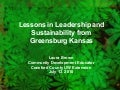 Lessons in Leadership and Sustainability from Greensburg KS 7 13-10