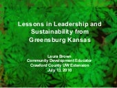 Lessons in Leadership and Sustainab...
