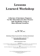 HI 73a - Lessons Learned Workshop