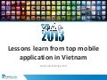 Mobileday 2013 - Lessons learn from top mobile app in vietnam