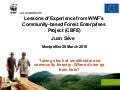 Lessons of experience from WWF's community based forest enterprises project (CBFE)