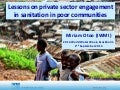 Lessons on private sector engagement in sanitation in poor communities