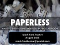 Using Less Paper In the Classroom - Ideas to Share