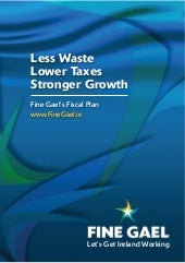 Less waste lower taxes stronger growth