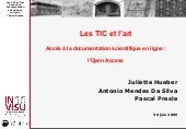 Les TIC et l'art : l'Open Access