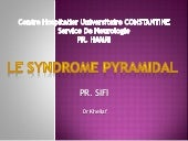 Le syndrome pyramidal 2013