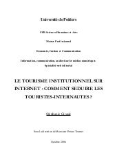 Le tourisme institutionnel sur inte...