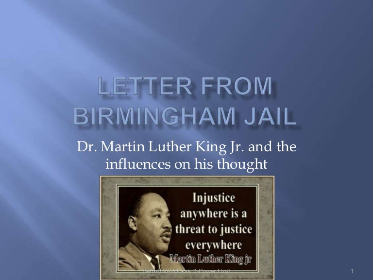 martin luther king jr letter from birmingham jail summary