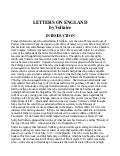 Letters On England by Voltaire, Free eBook