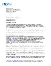 PRSA Letter to Senate Subcommittee ...