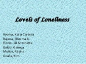 Levels of loneliness