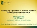 Leveraging Agriculture to Improve Nutrition
