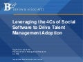Leveraging the 4 C's of Social Software to Drive Talent Management Adoption