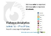LeWeb 11 - Fisheye Analytics