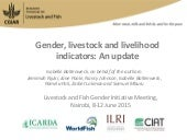 Gender, livestock and livelihood indicators: An update