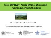 Cross CRP Study—Asset portfolios of men and women in northern Nicaragua