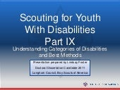 Part 2 Scouting For Youth With Disa...