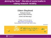Joining the 'buzz' : the role of social media in raising research visibility