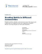 Reading Habits in Different Communi...