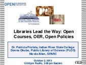 Libraries Lead the Way: Open Course...