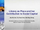 Library as a third place and her contribution to social capital